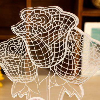 Color Changing 3D Rose Flower Night Light Home Decorative Desk Lamp Creative Gifts - WHITE