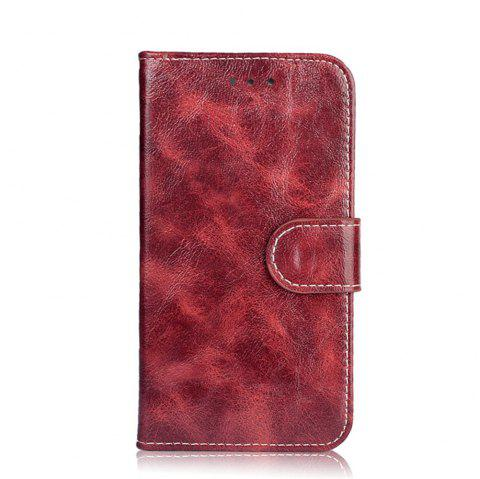 Wallet Case for Alcatel Pixi 4 5045T 5045D Flip Cover Protective Phone Bags Luxury Wallet Cases - WINE RED
