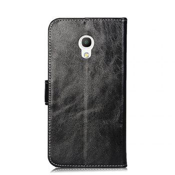 Wallet Case for Alcatel Pixi 4 5045T 5045D Flip Cover Protective Phone Bags Luxury Wallet Cases - BLACK