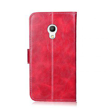 Portefeuille Case pour Alcatel Pixi 4 5045T 5045D Flip Couverture de Protection Téléphone Sacs De Luxe Portefeuilles Cas - Rouge