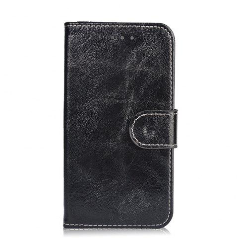 Leather Case for Alcatel Shine Lite 5080X Flip Cover 5.0 inch Vintage Phone Bags Luxury Wallet Cases - BLACK