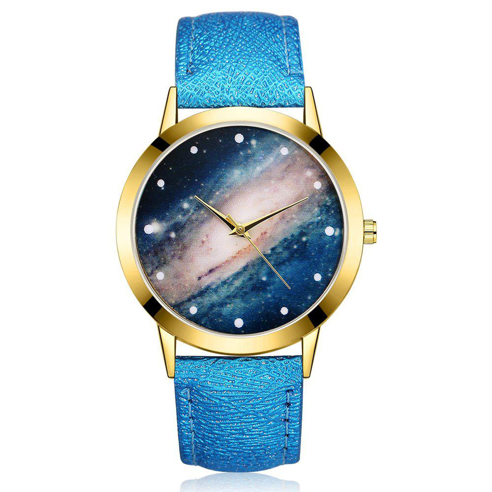 GAIETY G374 Women Leather Strap Starry Sky Face Quartz Watch gaiety g385 women s starry sky face leather band quartz watch