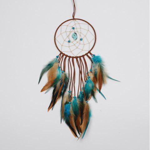 1Pc India Retro Life Tree Colorful Feather Dream Catcher Wind Chimes Hanging Dreamcatcher Christmas Party Home Decoratio - COLORMIX