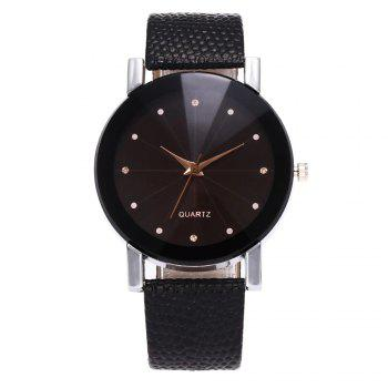 ZhouLianFa Famous Brand Black Leather Classic Color A Pair Couple Watch Women Men Fashion Clock1 - BLACK BLACK