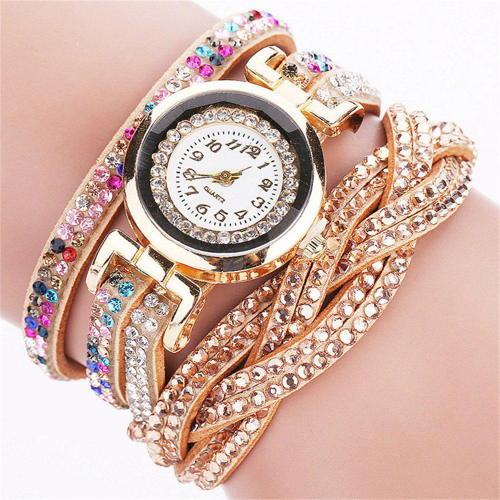 REEBONZ New Fashion Women Bracelet Watch - BEIGE