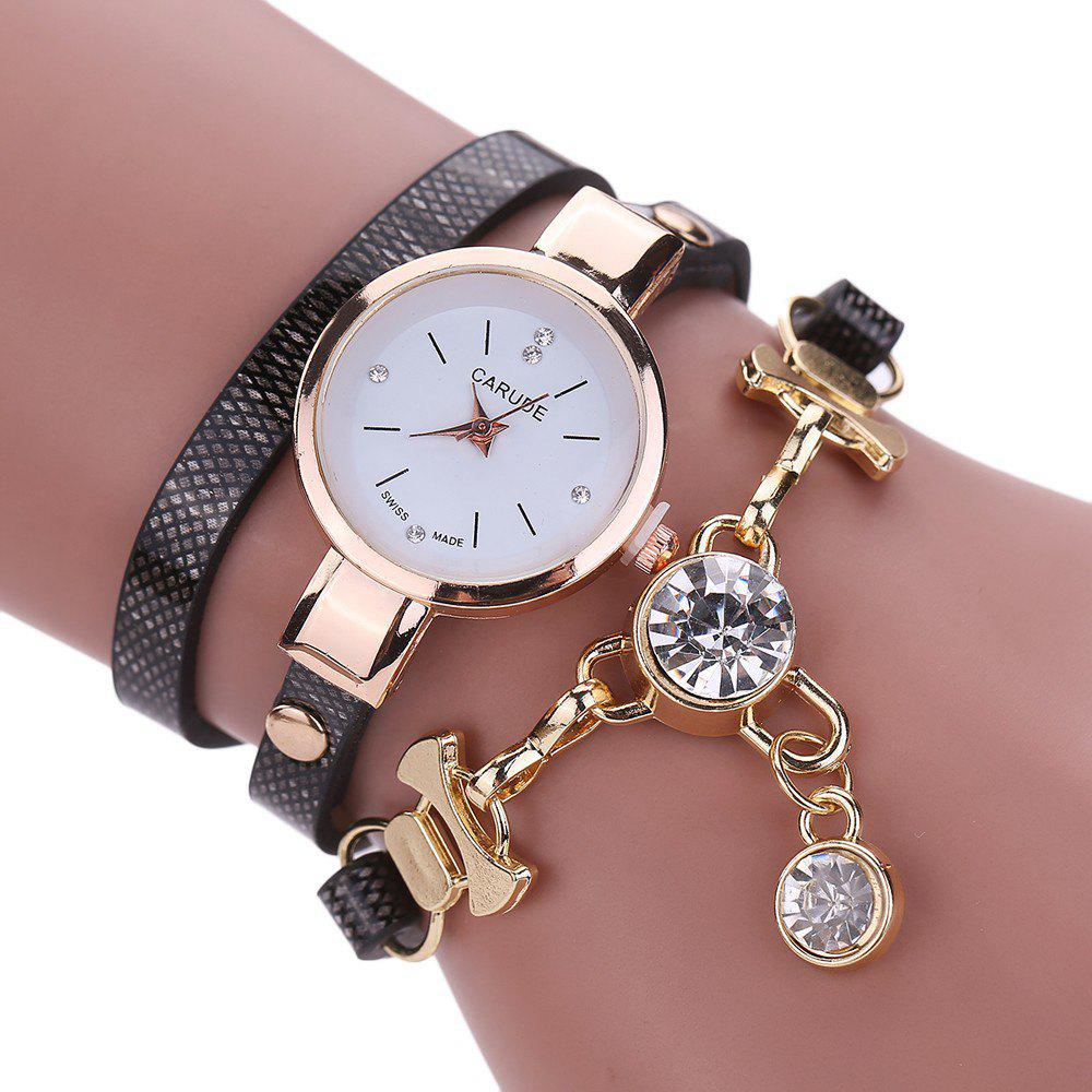 CATEYE New Fashion Lady'S Business Chain Personality Pendant Student Watch - BLACK