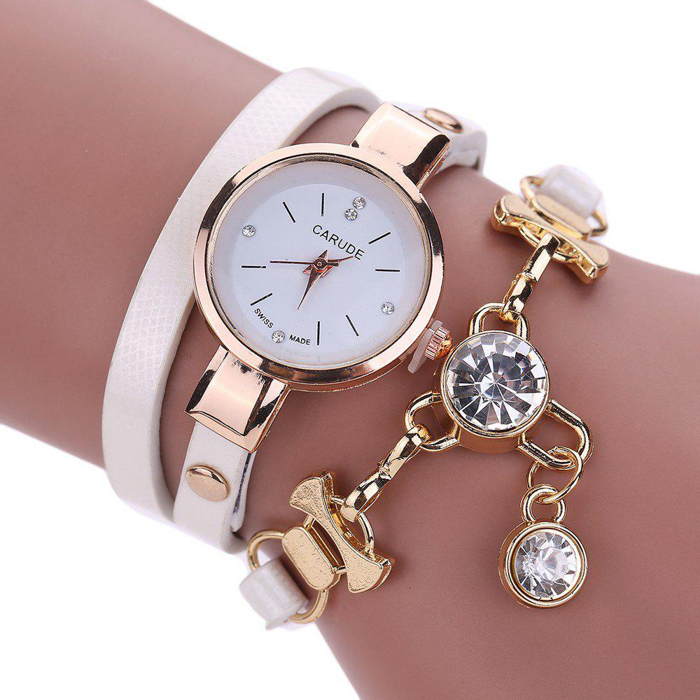 CATEYE New Fashion Lady'S Business Chain Personality Pendant Student Watch - WHITE