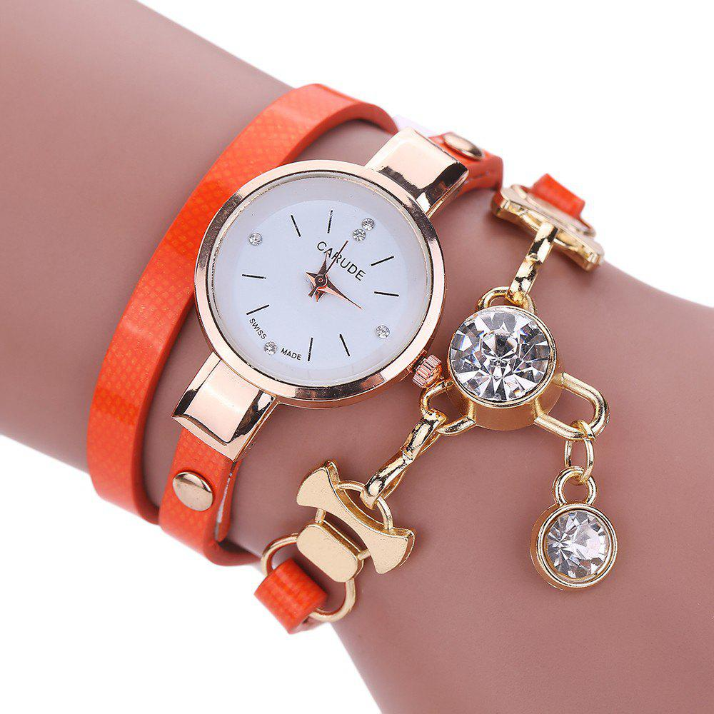 CATEYE New Fashion Lady'S Business Chain Personality Pendant Student Watch - ORANGE