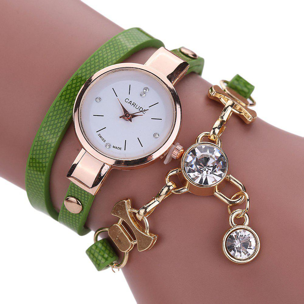 CATEYE New Fashion Lady'S Business Chain Personality Pendant Student Watch - GREEN