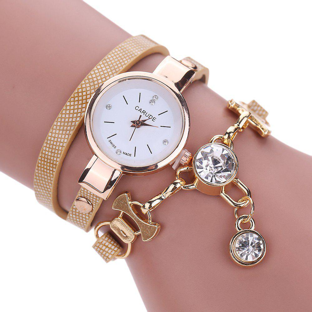 CATEYE New Fashion Lady'S Business Chain Personality Pendant Student Watch - BEIGE