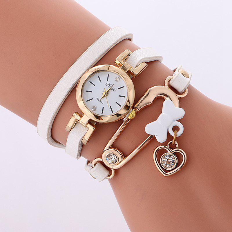 Reebonz New Fashion Lady's Leisure Bracelet Watch - WHITE