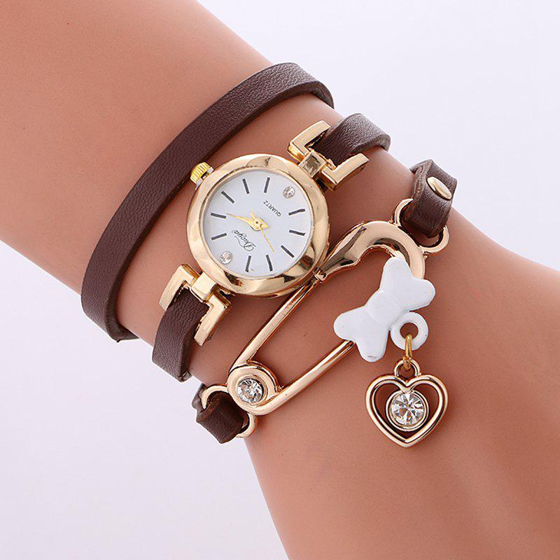 Reebonz New Fashion Lady's Leisure Bracelet Watch - BROWN