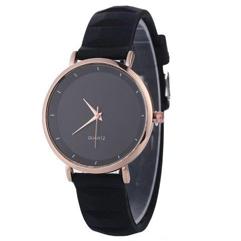 REEBONZ Lady Silicone Fashion Simple Quartz Wrist Watch - BLACK