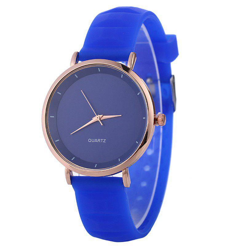 REEBONZ Lady Silicone Fashion Simple Quartz Wrist Watch - BLUE