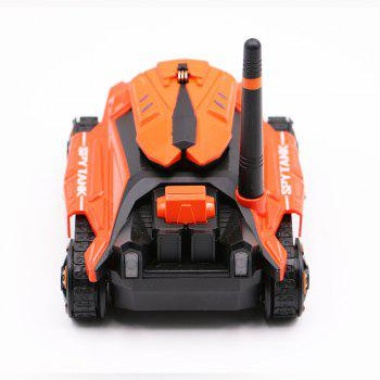 Attop 211 WiFi Real-Time Transmission of High Definition Aerial Video Car Mini Tank Car Intelligent Remote Control Car T - ORANGE RED ORANGE RED