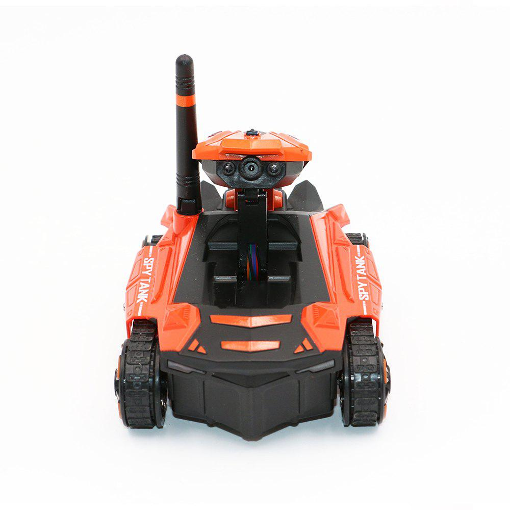 Attop 211 WiFi Real-Time Transmission of High Definition Aerial Video Car Mini Tank Car Intelligent Remote Control Car T - ORANGE RED