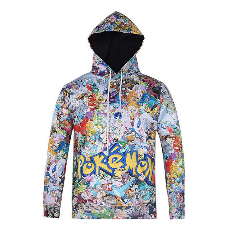 Stylish Hip Hop Casual Jacket Floral Personality Trend Couple Hoodies reedoon 1417 trend of the goddess hip hop sunshade sunglasses black golden