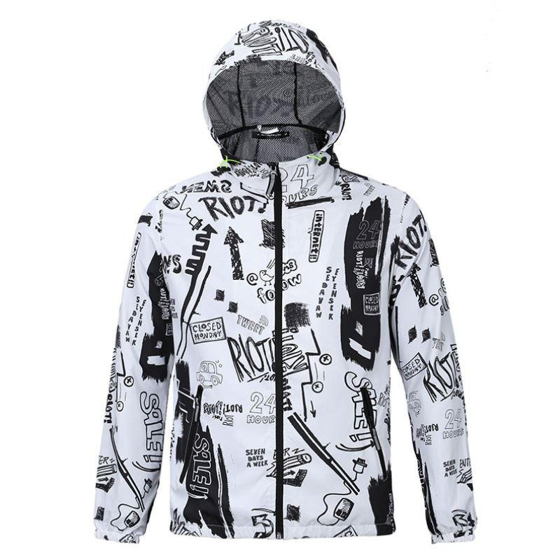 Fashion Casual Men's Fashion Trend 3D Printed Loose Lovers Hooded Coat