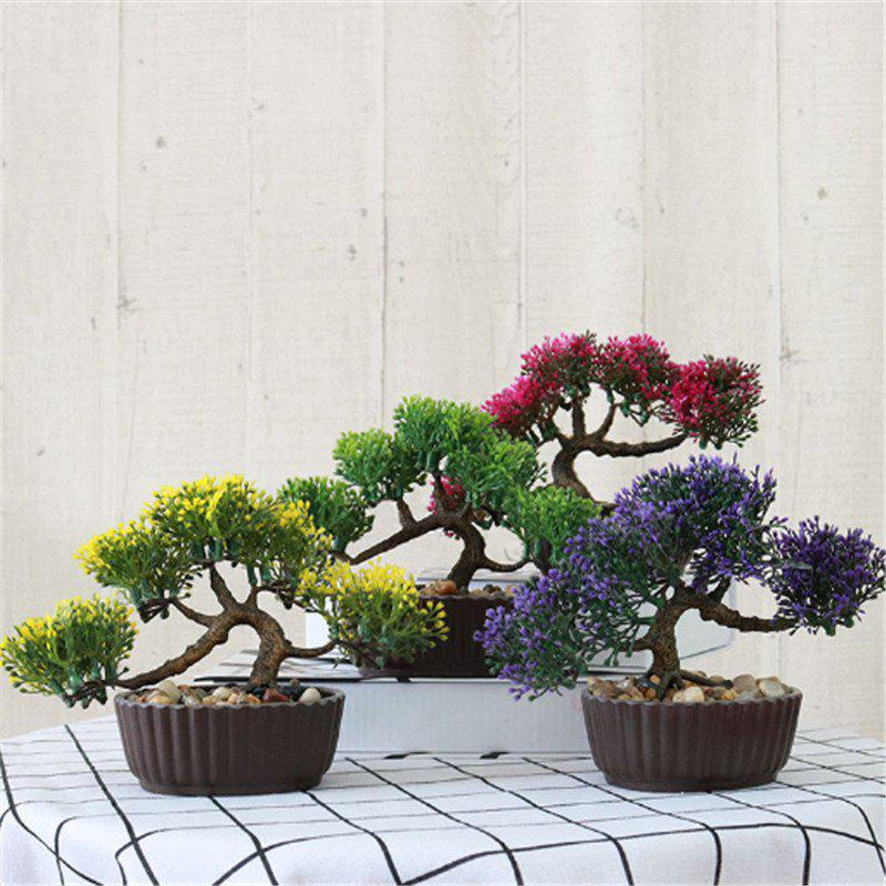 Simulation of Small Pine Bonsai Plastic Flower Fake Flowers Potted Plant Stores Cabinet Decoration - DAISY