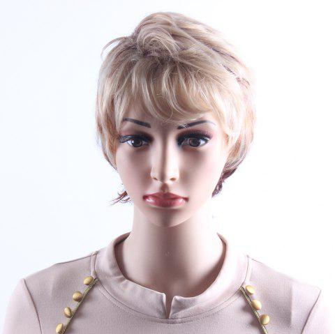 927ef8457 Mixcolor Blonde Brown Short Wavy Wigs for Women Heat Resistant Synthetic  Hair Wigs SW0113 - BLONDE
