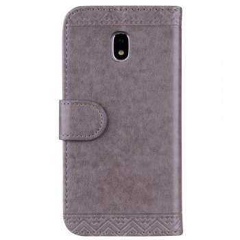 For Samsung Galaxy J3 2017 European Version of the Flash Powder Mandala Cover Covers the Shell -  GRAY