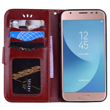 For Samsung Galaxy J3 2017 European Version of the Flash Powder Mandala Cover Covers the Shell - BROWN
