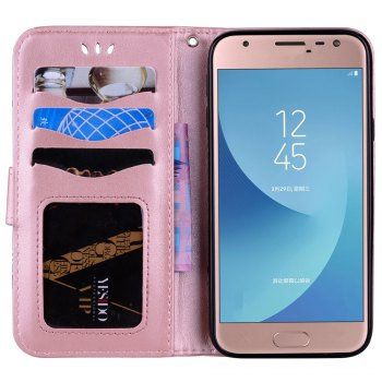 For Samsung Galaxy J3 2017 European Version of the Flash Powder Mandala Cover Covers the Shell - ROSE GOLD