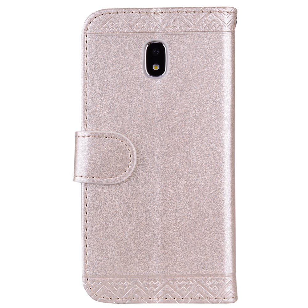 For Samsung Galaxy J3 2017 European Version of the Flash Powder Mandala Cover Covers the Shell - GOLDEN