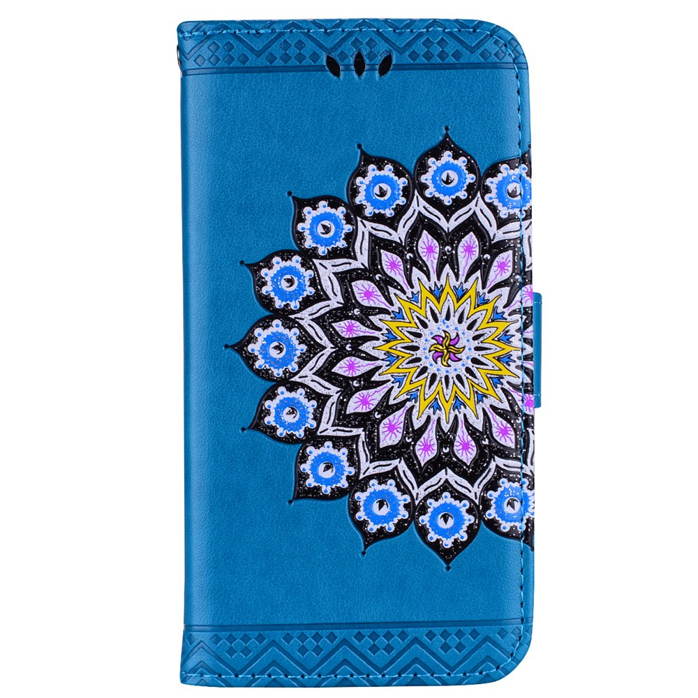 For Samsung Galaxy J3 2017 European Version of the Flash Powder Mandala Cover Covers the Shell - BLUE