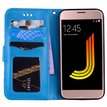 For Samsung Galaxy J5 2017 European Version of the Flash Powder Mandala Cover Covers the Shell -  BLUE