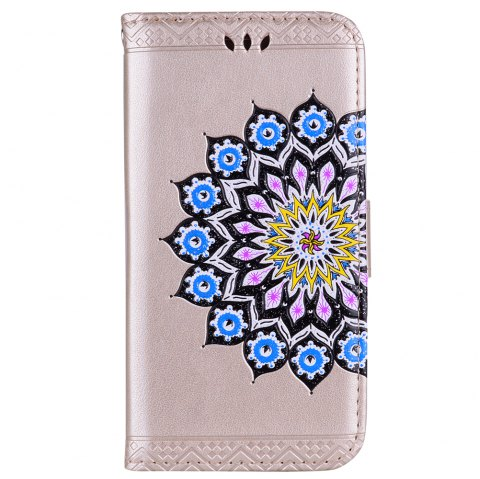 Pour Samsung Galaxy S7 Flash Poudre Mandala Couvre Couverture Shell - Or