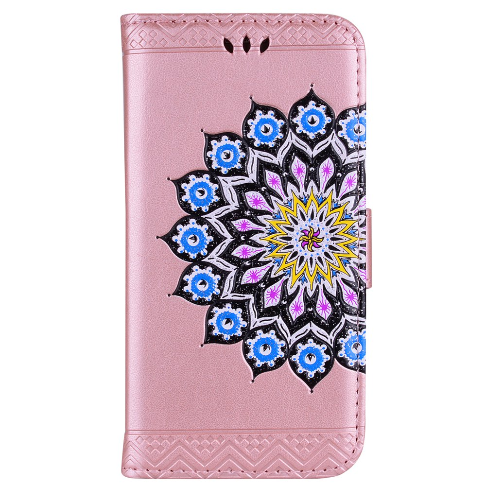 For Samsung Galaxy S7 Flash Powder Mandala Covers Cover Shell - ROSE GOLD