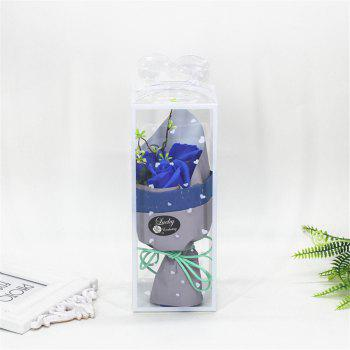 3 Pcs Creative Roses Holding Soap Flower - BLUE