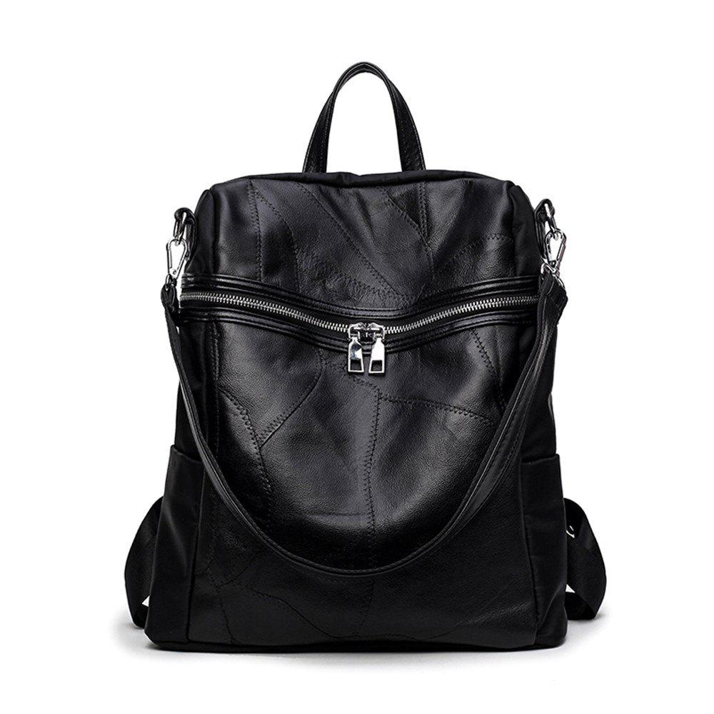 2018 Ladies Leather Backpack Korean Women Stitching Leather with ...
