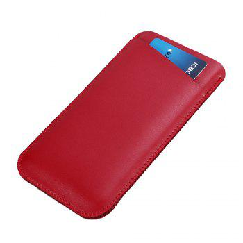 Charmsunsleeve For Samsung Galaxy C5 Pro 5.2 inch Microfiber Leather Case Phone Bag Sleeve With Card Slots - RED RED