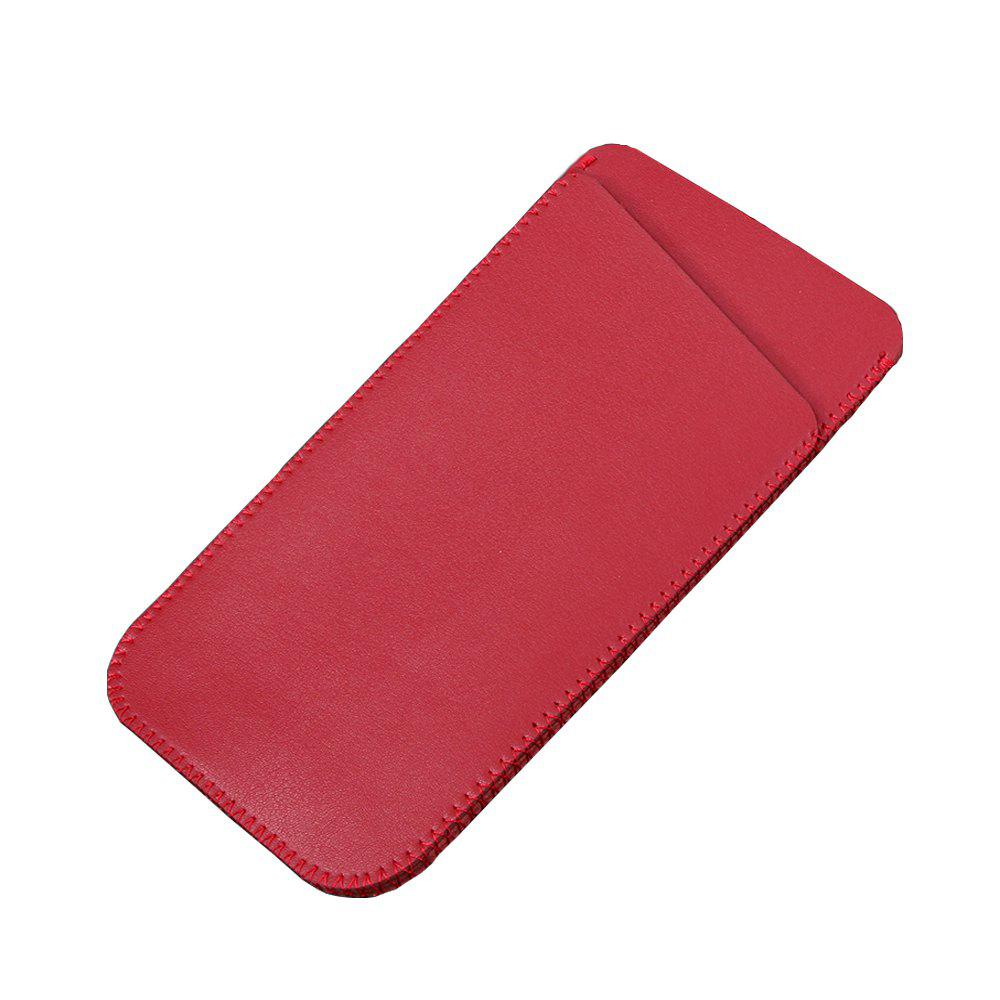 Charmsunsleeve For Samsung Galaxy C5 Pro 5.2 inch Microfiber Leather Case Phone Bag Sleeve With Card Slots - RED
