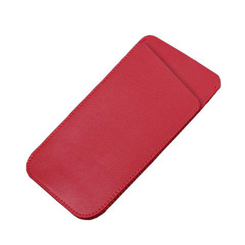 Charmsunsleeve For Samsung Galaxy C7 2017 C7100 Case Luxury Ultrathin Microfiber Leather phone Sleeve Bag Pouch Cover - RED