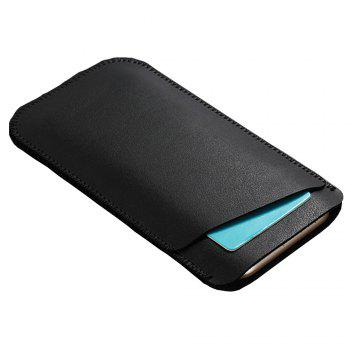 Charmsunsleeve For Samsung Galaxy C7 2017 C7100 Case Luxury Ultrathin Microfiber Leather phone Sleeve Bag Pouch Cover - BLACK A
