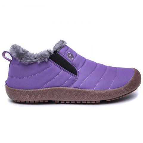 New Men'S Winter Leisure Shoes and Cashmere - PURPLE 36