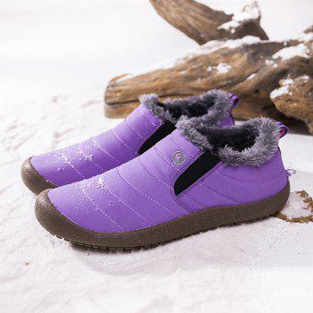 New Men'S Winter Leisure Shoes and Cashmere - PURPLE 39