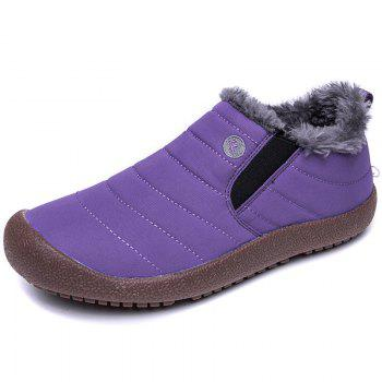 New Men'S Winter Leisure Shoes and Cashmere - PURPLE 40