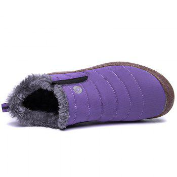 New Men'S Winter Leisure Shoes and Cashmere - PURPLE 37