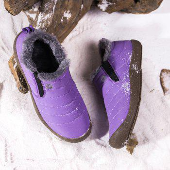 New Men'S Winter Leisure Shoes and Cashmere - PURPLE 38