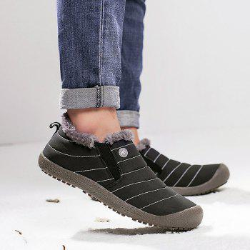 New Men'S Winter Leisure Shoes and Cashmere - BLACK 45