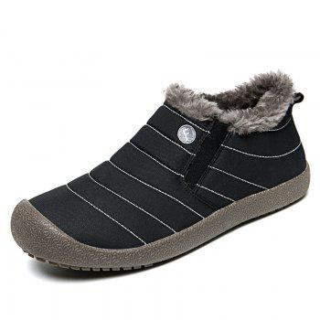 New Men'S Winter Leisure Shoes and Cashmere - BLACK 43