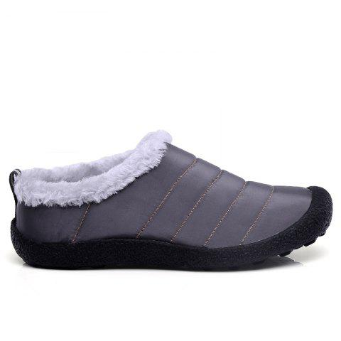 New Men'S Winter Leisure Shoes and Cashmere Short Tube - GRAY 38