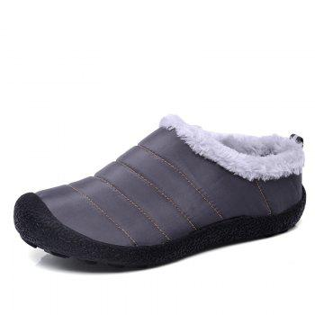 New Men'S Winter Leisure Shoes and Cashmere Short Tube - GRAY 39