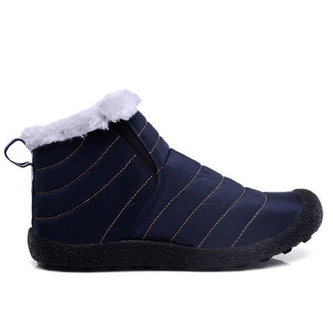 New Men'S Winter Leisure Shoes and Cashmere Long Tube - BLUE 39