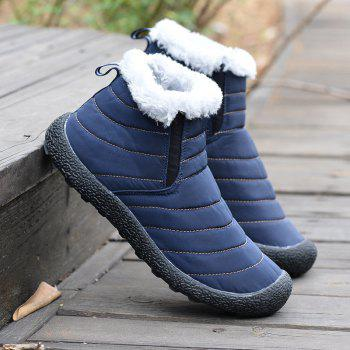 New Men'S Winter Leisure Shoes and Cashmere Long Tube - BLUE 37