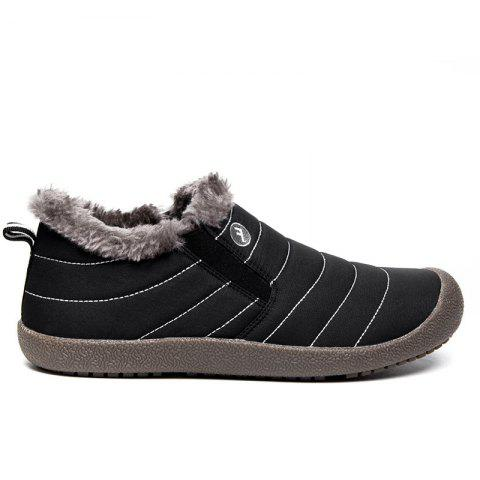 New Men'S Winter Leisure Shoes and Cashmere Length of Tube - BLACK 38